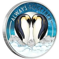 2018 ALWAYS TOGETHER PENGUIN Silver Proof Coin