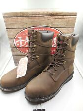 """MEN'S SIZE 13 LAREDO CHAIN SOFT TOE 8"""" BROWN LEATHER WORK BOOTS MODEL 88144"""