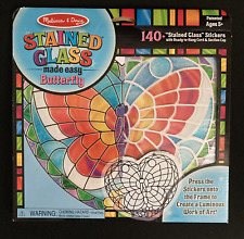 Melissa & Doug Stained Glass Made Easy Butterfly - 140+ Stickers