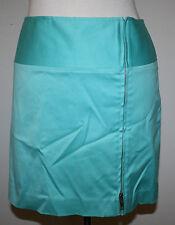 RALPH LAUREN Black Label Turquoise Blue Zip Front Cotton Stretch Skirt 10