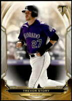Trevor Story 2019 Topps Triple Threads 5x7 Gold #7 /10 Rockies