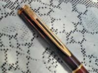 Waterman Gentleman Ballpoint Pen~Brown Marble Comes w Extra Refill~Very Nice Pen