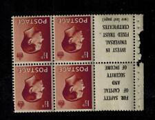 1936 1 1/2d Sg459aw inverted complete Booklet pane Edward Viii Um cat£100
