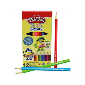 Coloriage : 12 Crayons De Couleur - PlayDoh Art & Activity - Mine 3mm