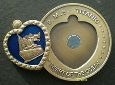 "💘 RMS Titanic ""Heart of the Ocean"" large coin Bronze Plated"