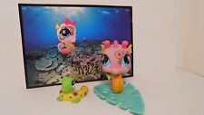 LPS # 1011 Littlest Pet Shop Pink Tattoo Postcard Seahorse with Blue Eyes plus