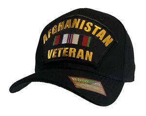 Afghanistan Veteran Hat Black Classic Ball Cap