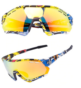 Bike Polarized Cycling Glasses Sports MTB 3 Lens Sunglasses UV400 Photochromatic