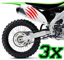 3x Monster Kralle Sticker Aufkleber Sponsor Motorrad Auto JDM OEM MOTORCROSS xxx