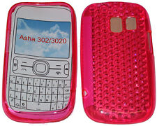 For Nokia Asha 302 / 3020 Pattern Gel Jelly Case Cover Protector Pouch Pink New