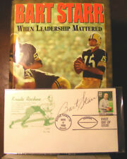 Bart Starr When Leadership Mattered (2004) HC.DJ. + Signed First Day Issue Card
