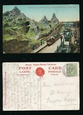 GB EXHIBITION POSTMARK 1908 FRANCO BRITISH PPC CANADIAN SCENIC RAILWAY + MESSAGE