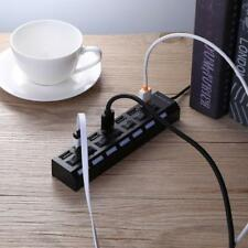 7 Ports Hub USB 2.0 Adapter Splitter Socket High Speed with Switch fr PC Laptop