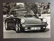 """1987 Porsche 911 Carrera Coupe B&W Press Photo """"Werkfoto"""" RARE!! Awesome L@@K"""