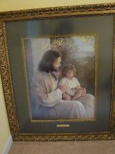 "GREG OLSEN ""FOR LO, I AM WITH YOU ALWAYS""JESUS signed # framed*LARGE*Matthew"