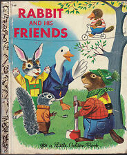 Rabbit and His Friends Little Golden Book Richard Scarry 2nd print