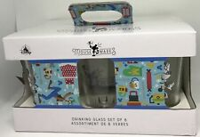 Disney Parks Mouse Wares and Friends Drinking Glass Set of 6 New with Box