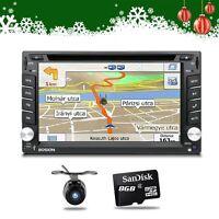 AUTORADIO 2 Din Doppel Mit GPS Navi Bluetooth TouchScreen DVD CD USB SD MP3 Map