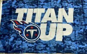 Titan Up Flag 3x5 Tennessee Titans Blue Digital Camo Banner NFL Flag NEW