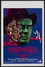 WESTWORLD Belgian movie poster YUL BRYNNER 1973 Unique Art NM