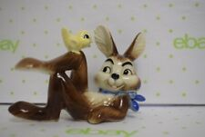 Rare Goebel Bunny Rabbit Lying down With Yellow Bird W. GERMANY figurine # 34817