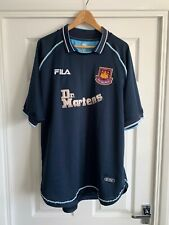 Fila Dr. Martens WEST HAM UNITED 1999 2000 2001 FOOTBALL SHIRT Size XL Vintage
