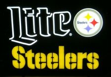 2019 Official Pittsburgh Steelers Miller Lite Beer Led Sign-Opti Neon-Football
