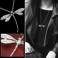 Fashion Silver Dragonfly Pendant Chain Necklace Accessories Mother's day