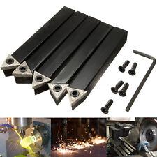 "5x 1/2"" Shank Lathe Turning Tool Holder + TCMT16T3 Indexable Carbide Inserts Set"