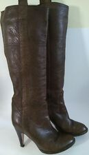 L'AUTRE CHOSE DESIGNER WOMENS BROWN LEATHER KNEE HIGH BOOTS SIZE UK 3.5 EUR 36.5