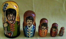 FREE Beatles Nesting Doll+Origin Alice Cooper Photo Russia Tour/FREE SHIP IN USA