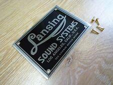 ALTEC Lansing Sound Systems NAME PLATE logo badge emblem - speaker cabinet n etc