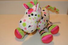 "DOUGLAS THE CUDDLE TOY 10"" PLUSH POLKADOT HORSE WHITE, GREEN, PINK, BLACK"