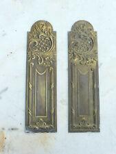2 anciennes plaques proprete laiton deco porte ancienne serrure