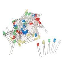 Sortiment mit ca 50 Stück 3mm Leds blau rot grün gelb weiß mini Led Leuchtdioden
