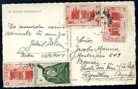 FRANCE WEST AFRICA TO ARGENTINA Circulated Postcard, RARE DESTINATION! VF