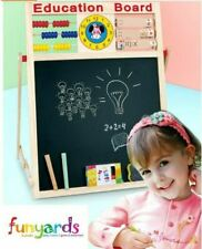 Kids Chalk board, Abacus and drawing double sided rotating 5 in 1