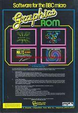 "Graphics ROM BBC Micro ""Vintage Software"" 1984 Magazine Advert #5211"