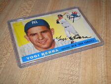 1955 TOPPS #198 YOGI BERRA, N.Y.YANKEES,GOOD, ORIGINAL BASEBALL CARD!!