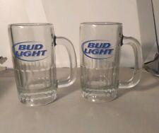 2 Bud Light Glass Beer Mugs