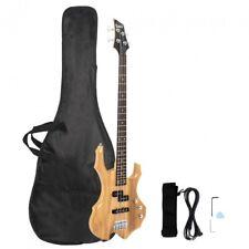 Glarry Burning Fire Electric Bass Guitar Full Size 4 String Sunset Burlywood