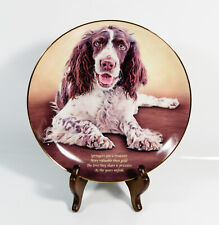 The Danbury Mint Cherished Springer Spaniels Decorative Plate Love They Share *