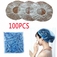 100pcs Salon Hotel Disposable one-off Clear Spa Hair Elastic Shower Bathing Caps