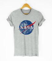 Nasa T Shirts Distressed Logo Grunge Retro Design Shirt Unisex Funny Tops Tees