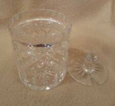 """GLASS CLEAR Jelly CANDY DISH TRINKET JEWELRY BOX WITH LID HOME DECOR, 4"""""""