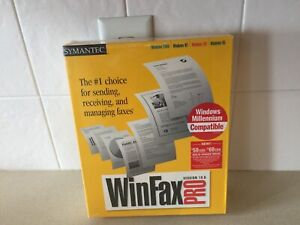 Winfax Pro 10.0 Symantec Windows XP/PRO/2000/NT WS/ME/98/95 Complete New In Box