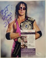 "Brett ""The Hitman"" Hart Signed WWE (WWF) 8x10 Photo JSA COA"
