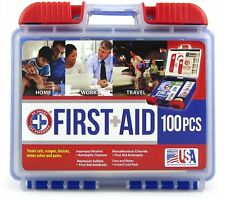 Be Smart Get Prepared 100 Piece First Aid Kit Exceeds FDA Standards Travel Bag