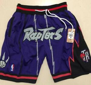 Toronto Raptors Vintage Basketball Game Shorts NBA Men's NWT Stitched Pants.