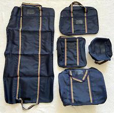 NOS Vtg 5 pc JORDACHE Luggage Set Garment Bag Carry-On Overnight Toiletry Dopp